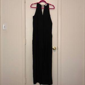 Parker S(4/6) Black Silk Crepe de Chine Jumpsuit